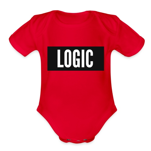 Logic Bold Logo - Organic Short Sleeve Baby Bodysuit