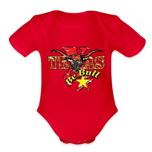 Texas 01 - Organic Short Sleeve Baby Bodysuit