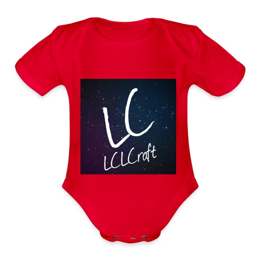 LCLCraft logo - Organic Short Sleeve Baby Bodysuit