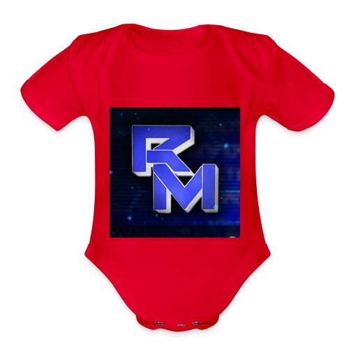 roman - Organic Short Sleeve Baby Bodysuit