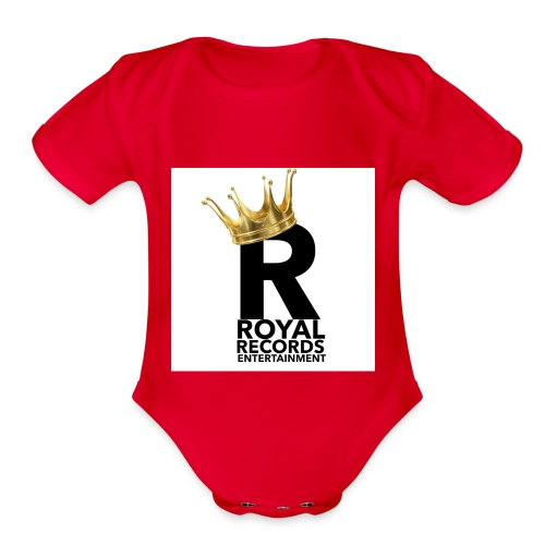 Royal Records Entertainment - Organic Short Sleeve Baby Bodysuit