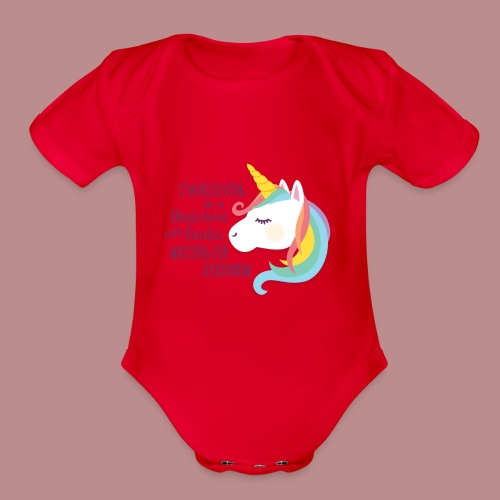 Believing in a Unicorn - Organic Short Sleeve Baby Bodysuit