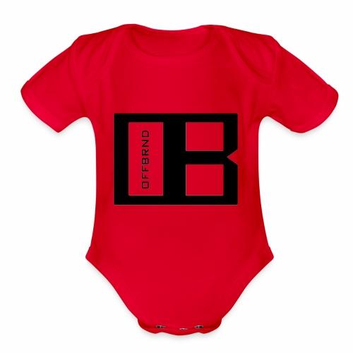 OffBrnd Logo 1 - Organic Short Sleeve Baby Bodysuit