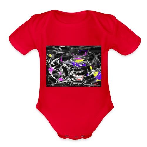 skyuni1 - Organic Short Sleeve Baby Bodysuit