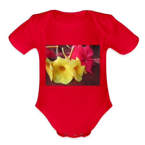 Exotic Flowers - Organic Short Sleeve Baby Bodysuit
