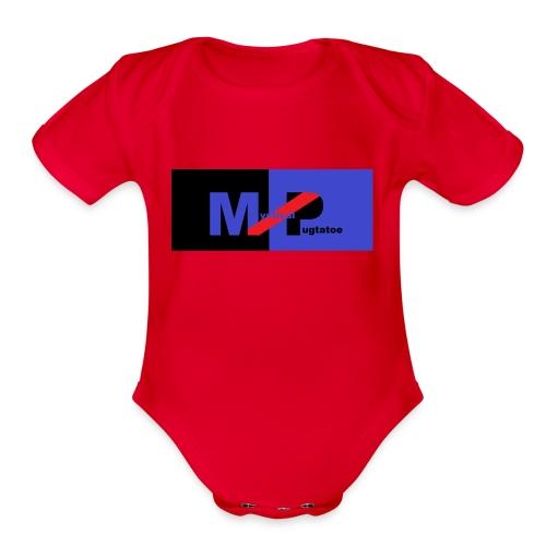 Mystical Logo - Organic Short Sleeve Baby Bodysuit
