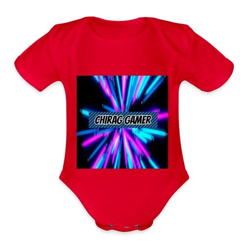 Chirag Gamer Logo - Organic Short Sleeve Baby Bodysuit