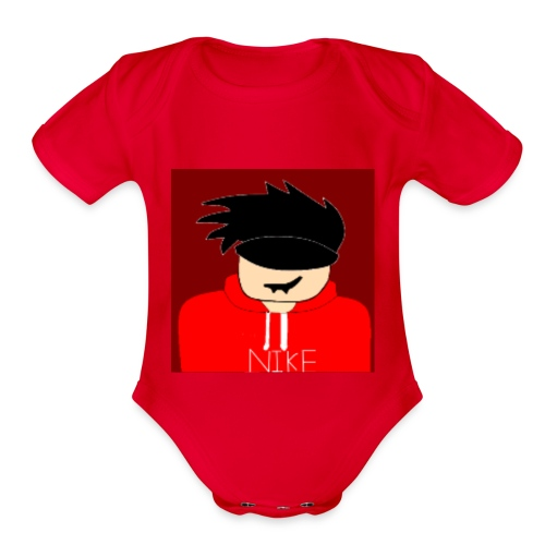 my youtube roblox GFX icon - Organic Short Sleeve Baby Bodysuit
