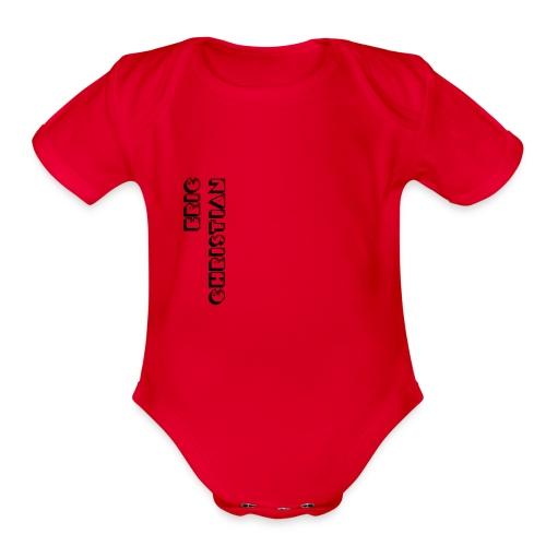 Eric Christian Side Logo Black - Organic Short Sleeve Baby Bodysuit