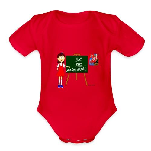 100 years of Czechoslovakia - Organic Short Sleeve Baby Bodysuit
