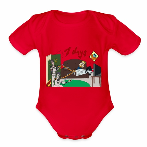 7 Day Bust - Organic Short Sleeve Baby Bodysuit