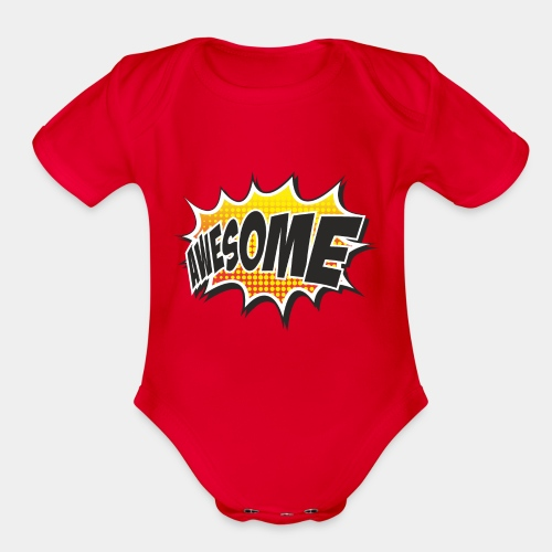 Awesome - Organic Short Sleeve Baby Bodysuit
