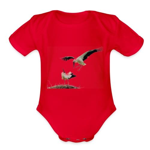 Stork - Organic Short Sleeve Baby Bodysuit