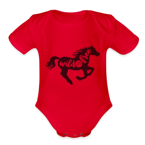 Wild and Free - Organic Short Sleeve Baby Bodysuit
