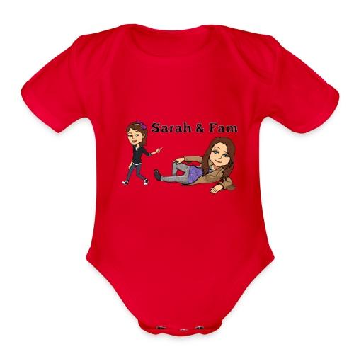 Sarah and Fam - Organic Short Sleeve Baby Bodysuit