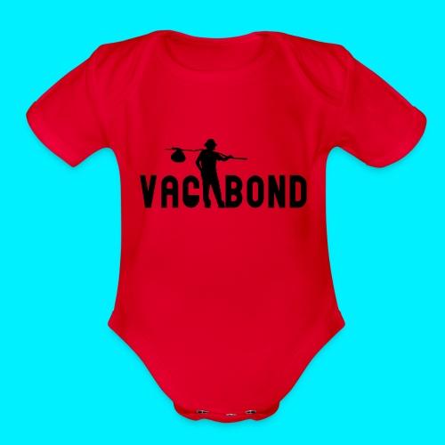 Vagabond Logo Wide - Organic Short Sleeve Baby Bodysuit