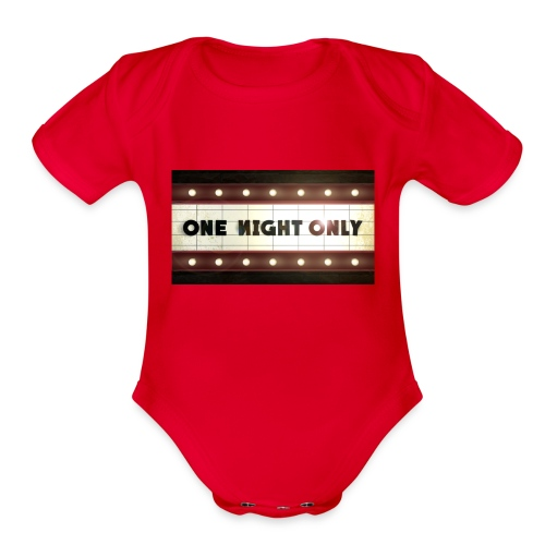 One night only - Organic Short Sleeve Baby Bodysuit