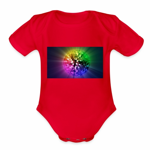 disco - Organic Short Sleeve Baby Bodysuit