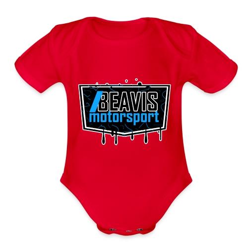 BEAVIS Motorsport Badge Logo - Organic Short Sleeve Baby Bodysuit