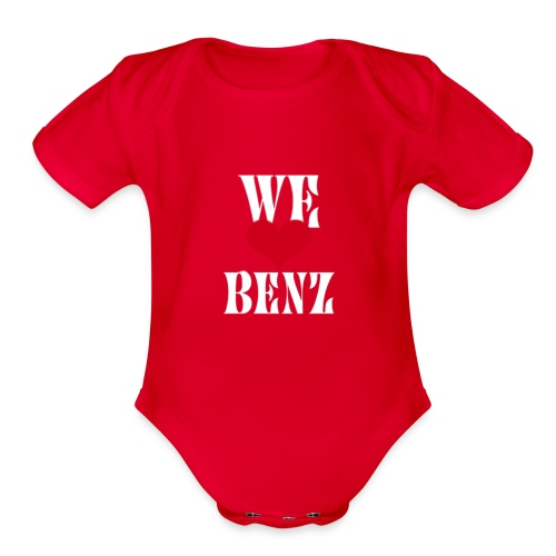 Hoodie and t shirt of Mercedes Benz lovers - Organic Short Sleeve Baby Bodysuit