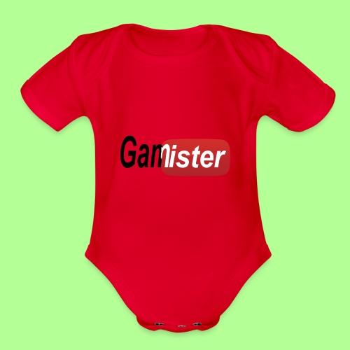 gamister_shirt_design_6 - Organic Short Sleeve Baby Bodysuit