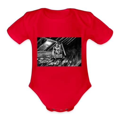 Bex Hiding from Zombies - Organic Short Sleeve Baby Bodysuit
