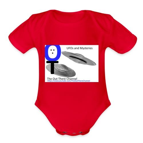 Outthere UtubeLogo2017 with Crew Back Logo - Organic Short Sleeve Baby Bodysuit