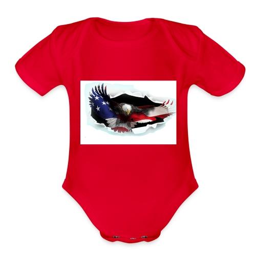 3DEagle - Organic Short Sleeve Baby Bodysuit