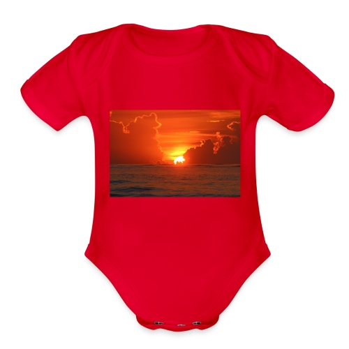 Sunrise on Vilano Beach - Organic Short Sleeve Baby Bodysuit