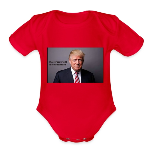 Mastergaming69 is Lit xdddddddddd - Organic Short Sleeve Baby Bodysuit