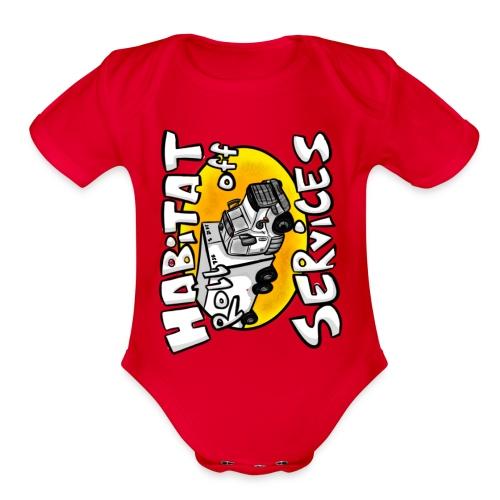 Habitat rolloff - Organic Short Sleeve Baby Bodysuit