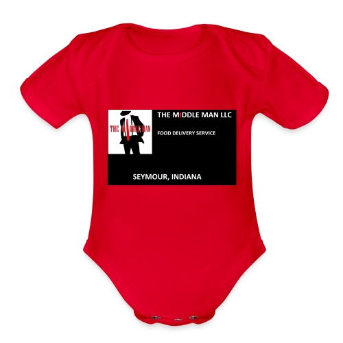The Middle Man FDS Logo - Organic Short Sleeve Baby Bodysuit