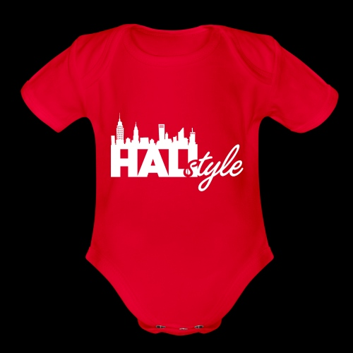 HALIStyle City Skyline - Organic Short Sleeve Baby Bodysuit