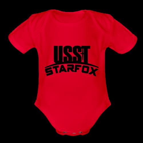 USST STARFOX Text - Organic Short Sleeve Baby Bodysuit