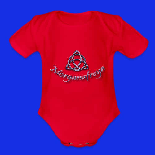 Morganafreya Celtic Knot Icon - Organic Short Sleeve Baby Bodysuit