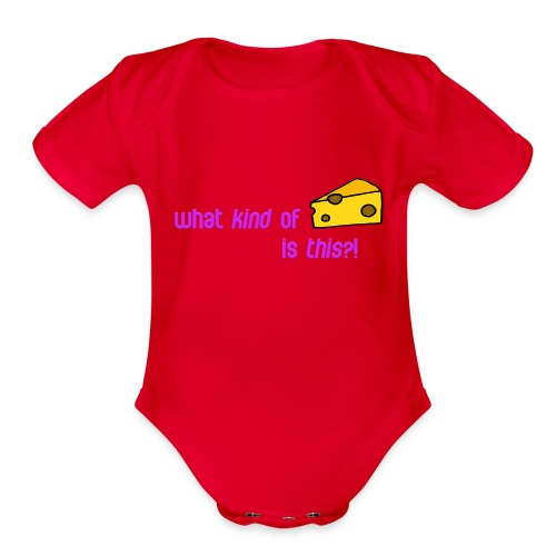 What kind of CHEESE is this? - Organic Short Sleeve Baby Bodysuit