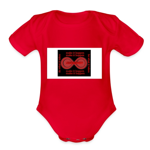 The Make It Happen Design | CreateMeInfinity - Organic Short Sleeve Baby Bodysuit