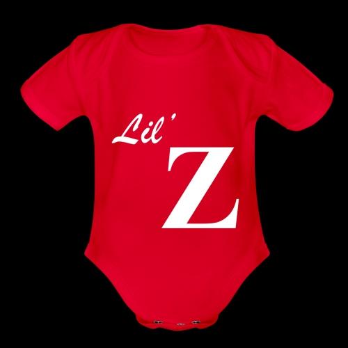 Lil Z Logo - Organic Short Sleeve Baby Bodysuit