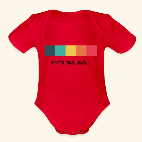 what´s your color? black - Organic Short Sleeve Baby Bodysuit