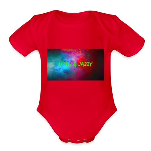 NYAH AND JAZZY - Organic Short Sleeve Baby Bodysuit