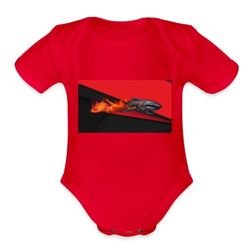 warface_black_shark - Organic Short Sleeve Baby Bodysuit