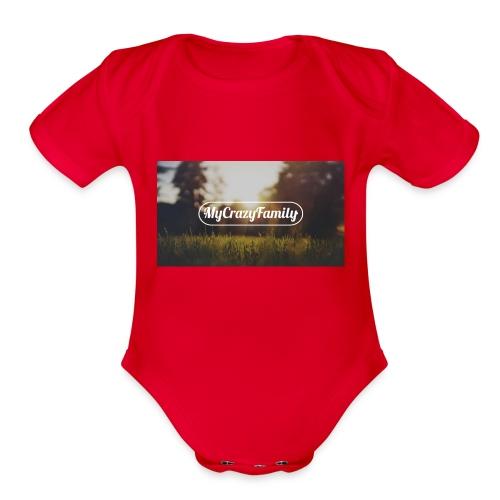 mycrazyfamily2 - Organic Short Sleeve Baby Bodysuit