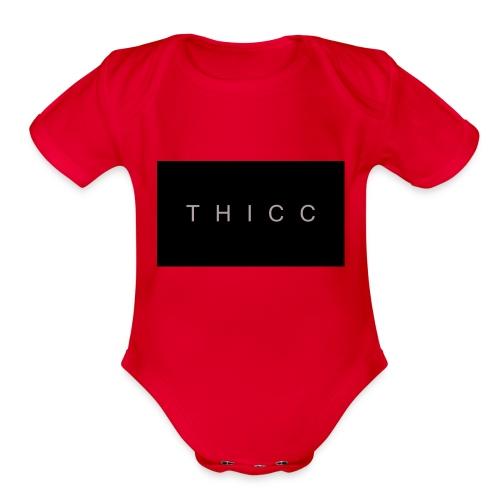 T H I C C T-shirts,hoodies,mugs etc. - Organic Short Sleeve Baby Bodysuit