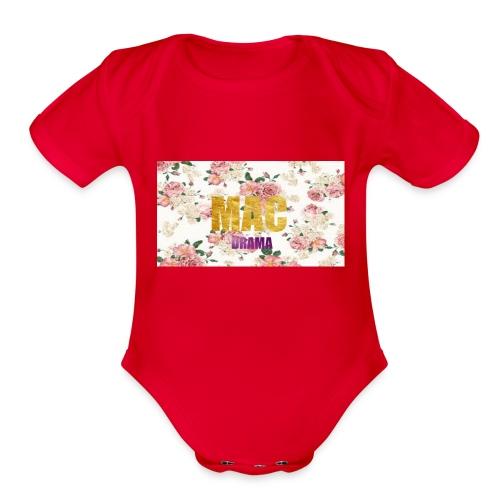 drama - Organic Short Sleeve Baby Bodysuit