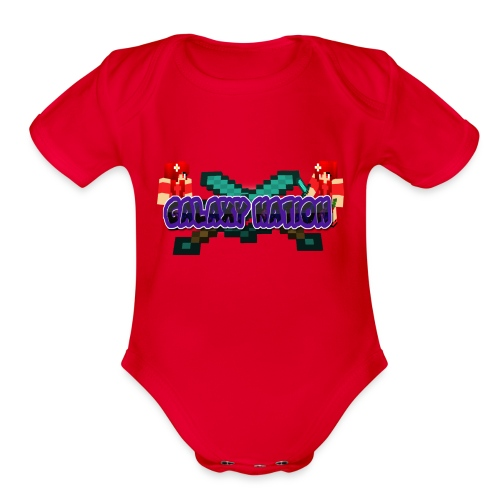 Galaxy Logo 1 - Organic Short Sleeve Baby Bodysuit