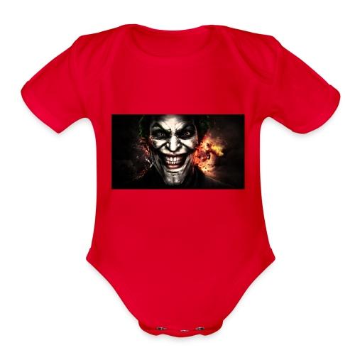 Jokers Evil Scheme - Organic Short Sleeve Baby Bodysuit