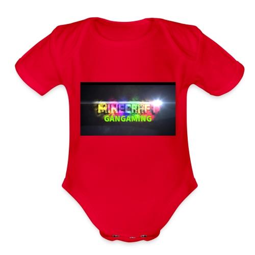 GanGamingMerch - Organic Short Sleeve Baby Bodysuit