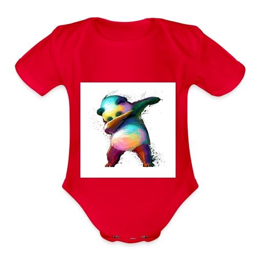dabing panda limited edition - Organic Short Sleeve Baby Bodysuit