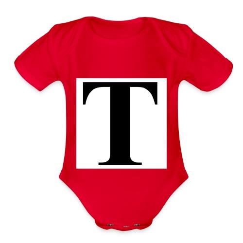 T stand for tavion - Organic Short Sleeve Baby Bodysuit
