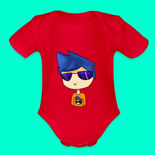 Cartoonish Avatar! - Organic Short Sleeve Baby Bodysuit
